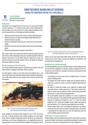 Crop Residue Handling at Seeding: issues to consider for no-till tine